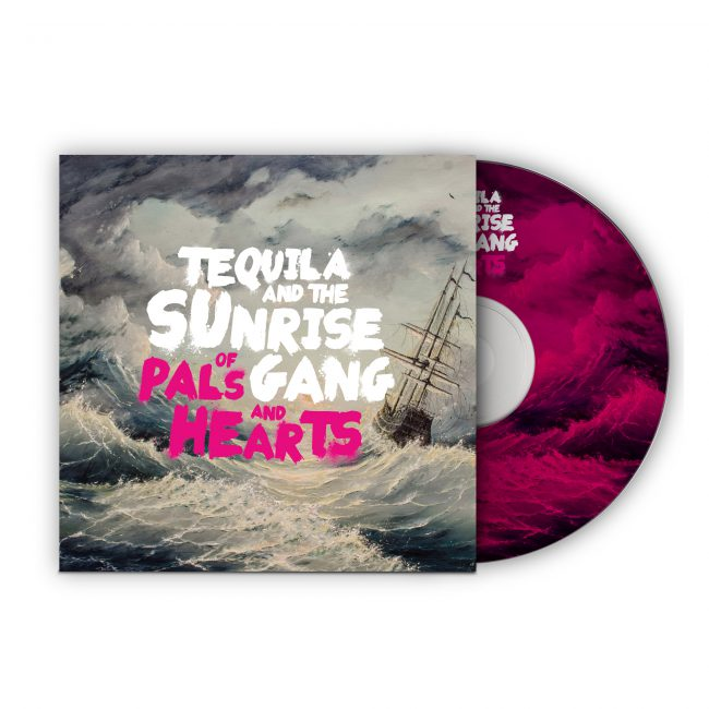 "Tequila & the Sunrise Gang - ""Of Pals and Hearts"" CD Cover"