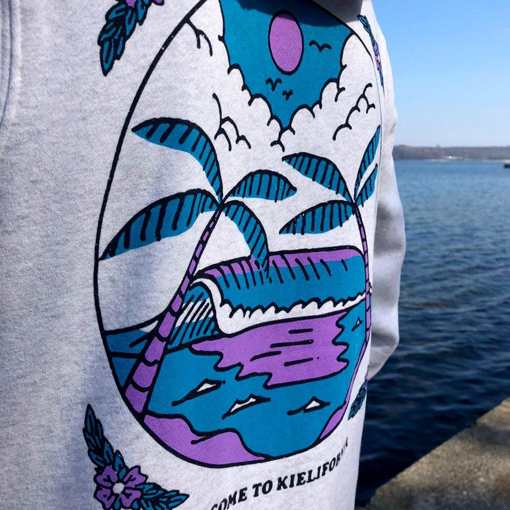 """Tequila & the Sunrise Gang - Zipper """"BEACH"""" Backprint"""