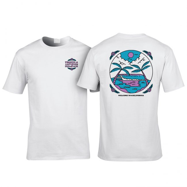"Tequila & the Sunrise Gang - T-Shirt ""BEACH"" weiß"