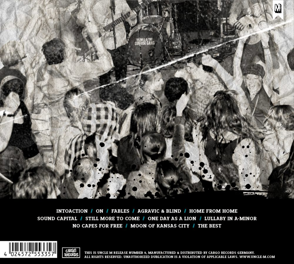 "Tequila & the Sunrise Gang - ""INTOACTION"" Rückseite Back"